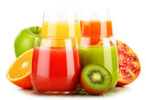 Z Jan - Glasses of assorted fruit juices isolated on white. Detox diet