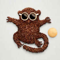 Dmitry Fisher - Tarsier with cookie.