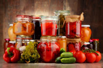 Z Jan - Jars with pickled vegetables and fruity compotes
