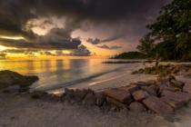 Erik Reis - Anse Kerlan beach at the sunset