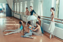Volodymyr Melnyk - The seven ballerinas at ballet bar