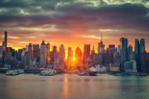 Sergey Borisov - Dramatic sunrise over Manhattan