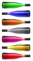 Ingram Vitantonio Cicorella - Colorful wine bottles on