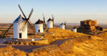 Richard Semik - Windmills with castle, Consuegra, Castile-La Mancha, Spain