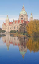 Monika Wendorf - New town hall in autumn - hannover