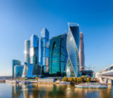 Vladimir Sklyarov - Moscow City - view of skyscrapers Moscow International Business Center.
