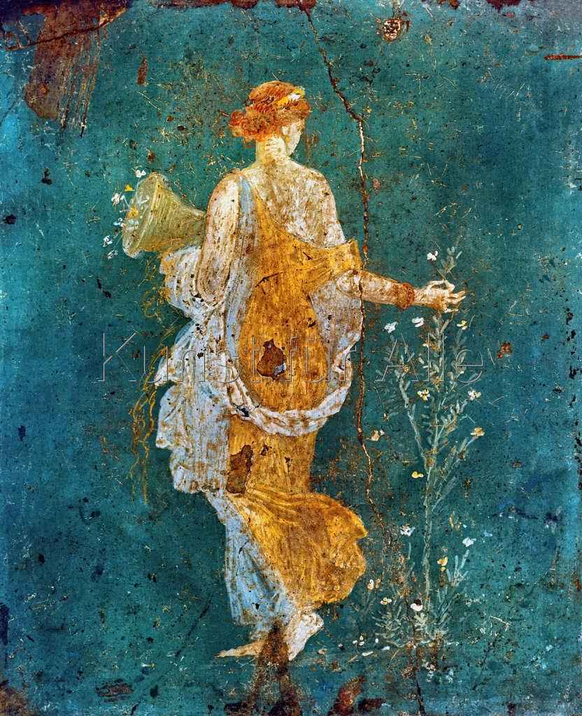 Pompeji - Flora mit dem Füllhorn - digitaler Kunstdruck ...